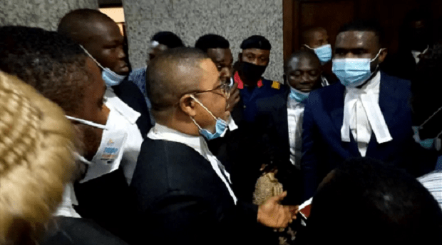 Nnamdi Kanu's Trial Begins, Lawyers Accuse DSS Of Not Letting Them In