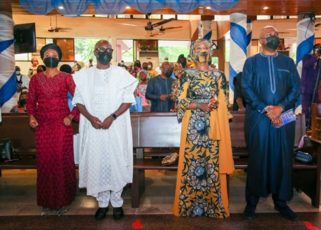 Bukola Saraki Goes To Church