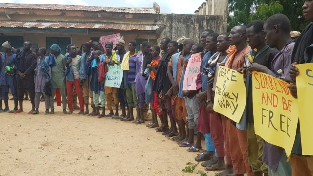 Over 100 Boko Haram fighters surrender to Nigerian Army