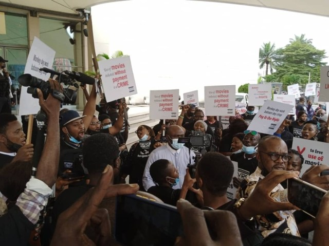 Nollywood stakeholders protest alleged intellectual property theft by Lagos hotel