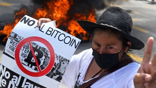 Thousands protest in El Salvador over introduction of Bitcoin as legal tender