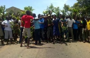 students protest in imo