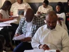 Dino Melaye, Ifeanyi Uba and Osita Chidoka together in class before graduation