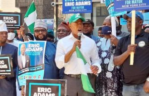 Nigerians raise $33K for Eric Adams New York City mayoral candidate