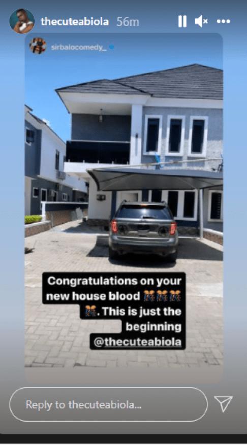 Comedian Cute ABiola buys Lekki mansion