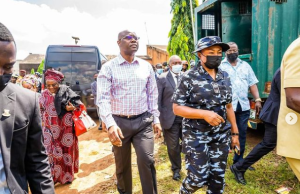 Photos: Makinde visits attacked Oyo prison, outlines improvements
