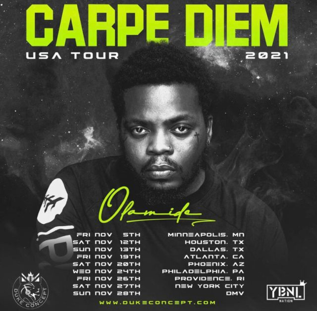 Olamide announces US tour dates