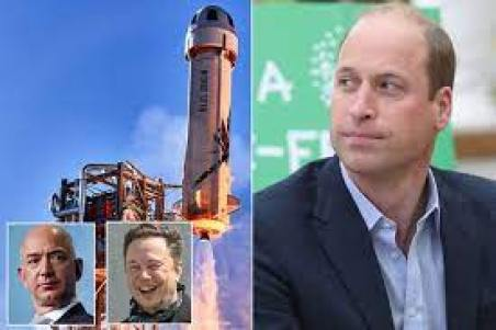 Prince William slams billionaire space tourists and demands an end to space race