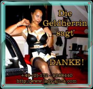 Geldherrin Slogan Domina Lady Alina 300x286 - Specials