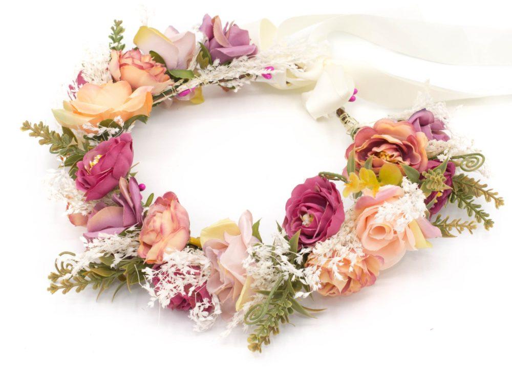 accessoires cheveux Couronne de fleurs