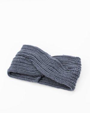 bandeau cheveux femme hiver gris anthracite