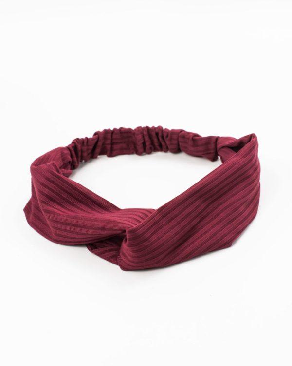 bandeau femme rouge bordeaux