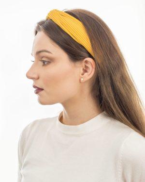 bandeau cheveux femme jaune