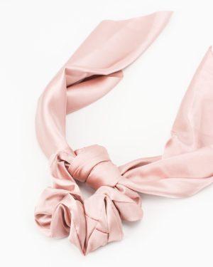 Chouchou foulard femme satin rose