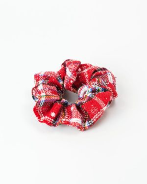 chouchou noel rouge et blanc femme