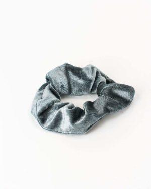 chouchou velours gris