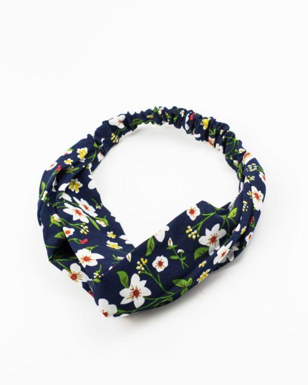 headband bleu fleurs