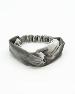 bandeau en velours gris pour cheveux