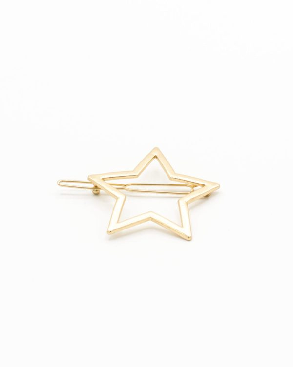 barrette cheveux étoile dorée