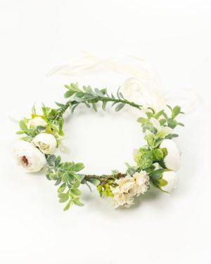 Couronnes de fleurs cheveux fleurs blanches