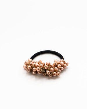 Elastique cheveux à perles cuivre