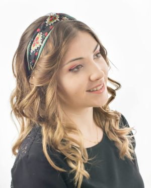 headband cheveux femme noir