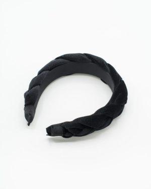 serre tête en velours noir pour femme