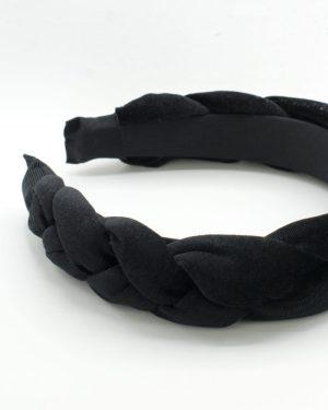 serre tête en velours noir