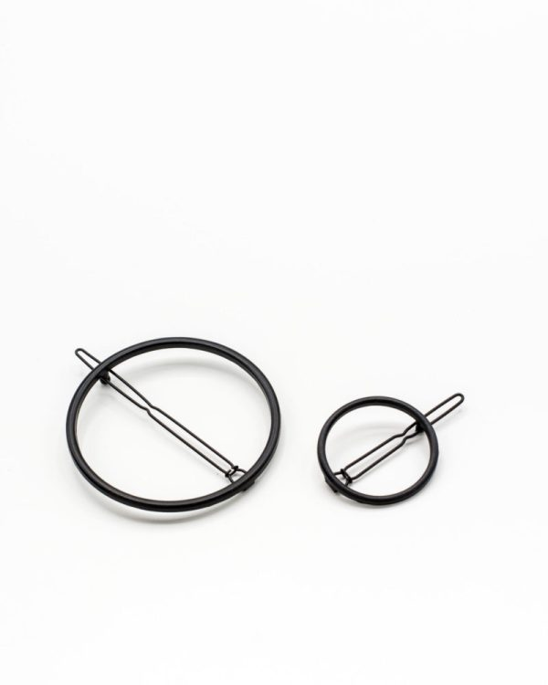 set de barrettes cercle noir