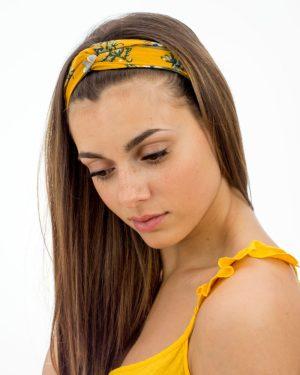 bandeau femme jaune végétal