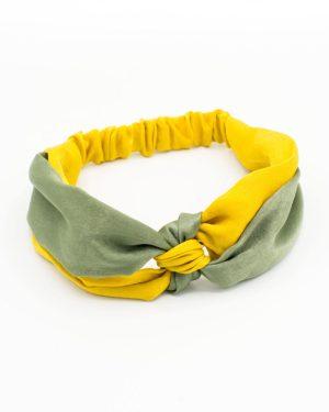 bandeau tête jaune et vert