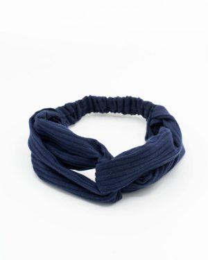 Headband cheveux pour femme bleu marine uni