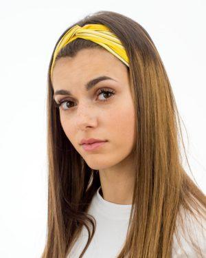Headband femme jaune à rayures