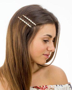 Set deux épingles à cheveux à perles