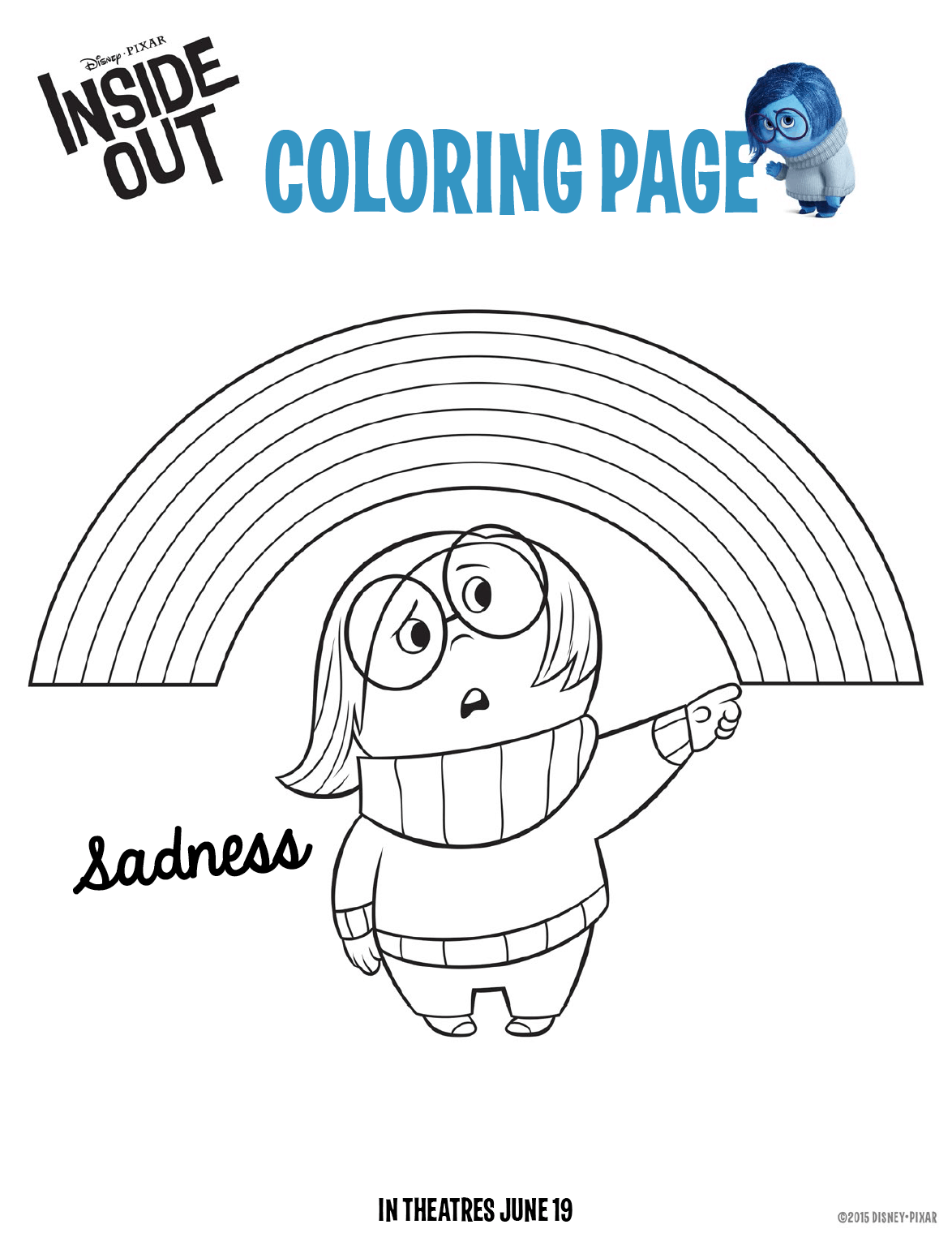 Inside Out Coloring Pages Free Downloads For Kids
