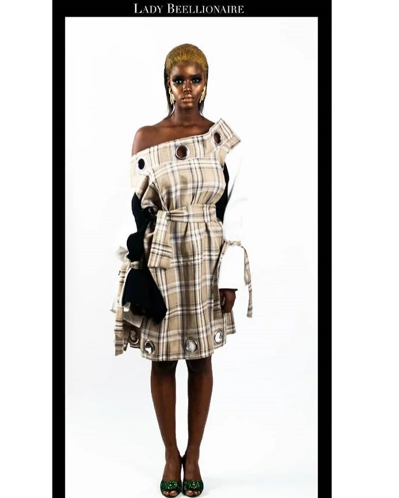 LadyBeellionaire- blow hole dress_ UNBOXED PF19 collection Look 2
