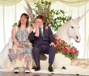 Polly e Joe, coppia Down sposi