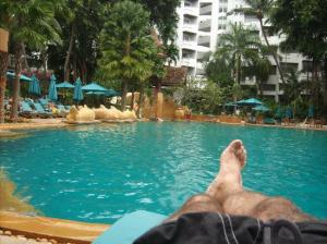 Marriott Pattaya Resort & Spa enjoying myself by the pool