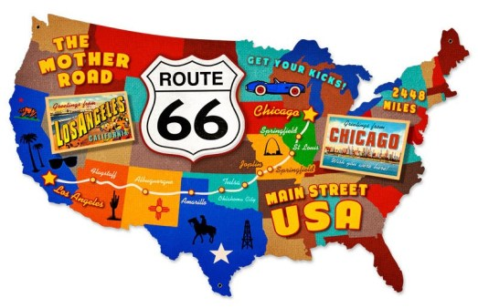 Route 66 was established as an official route from Chicago to Los Angeles in the summer of 1926. | Photo credit: https://notsofabulousfifties.wordpress.com/2014/08/22/no-room-in-the-motor-inn/