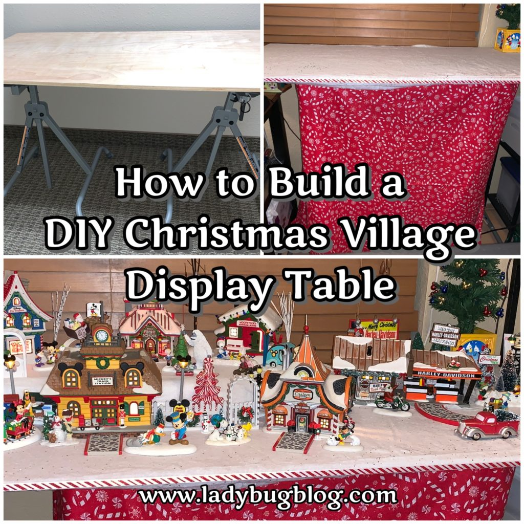 How To Build A DIY Christmas Village Display Table