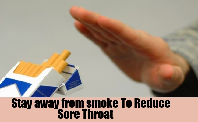 Stay away from smoke, pollution and irritants