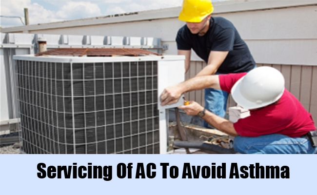 Servicing Of AC To Avoid Asthma