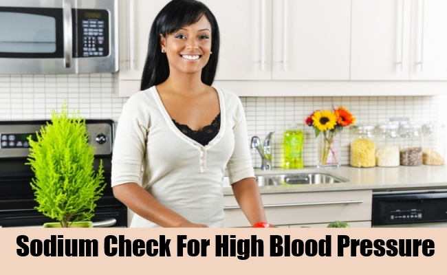 Sodium Check For High Blood Pressure