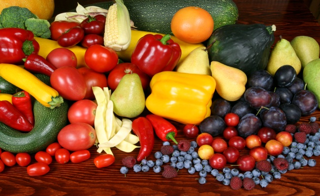 Healthy Fruit And Fresh Vegetables