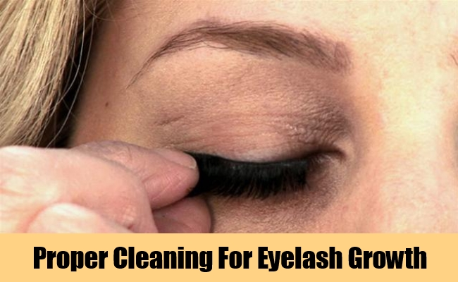 Proper Cleaning For Eyelash Growth