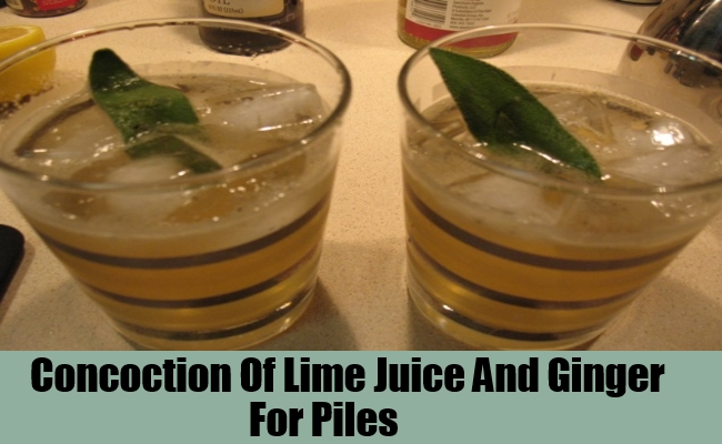 Concoction Of Lime Juice And Ginger
