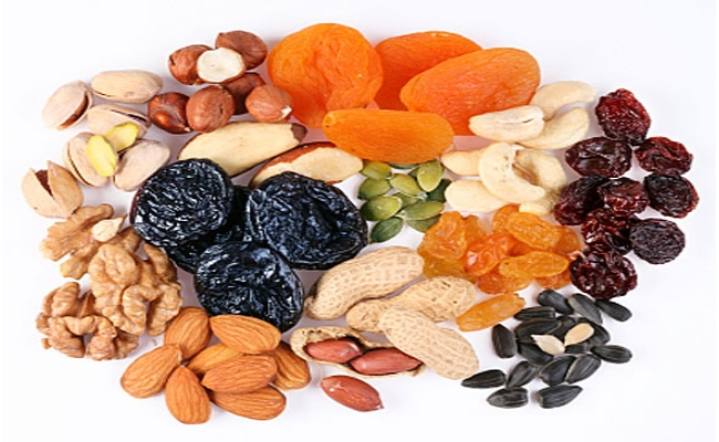 Snack On Dried Fruits And Nuts