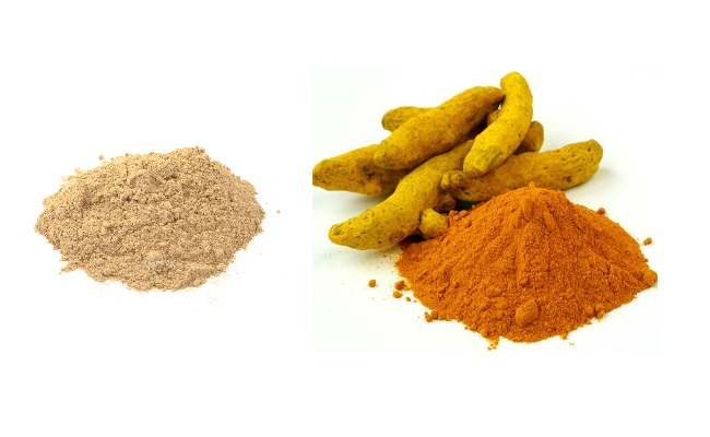 Turmeric Powder And Sandalwood Powder