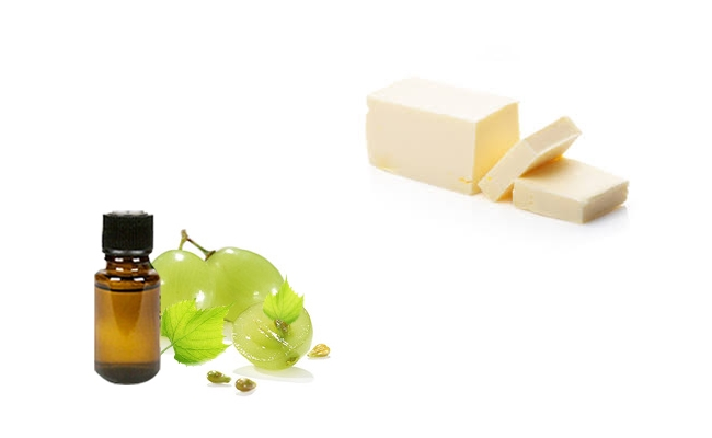 Butter and Grape Seed Oil
