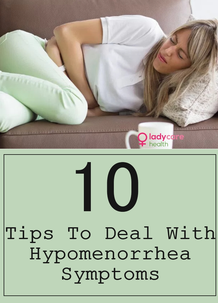 Tips To Deal With Hypomenorrhea Symptoms